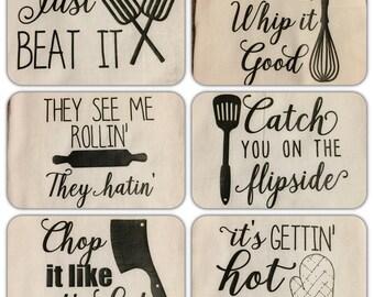 Choose 2! Flour sack dish towels, 15 options!