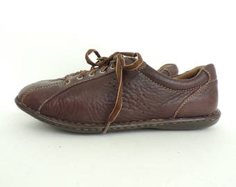 Vintage Born Brown Leather Lace Up Sneakers Size 10, Brown Sneakers, Lace Up Sneakers, Born, Born Sneakers, Womens Sneakers, Brown Leather