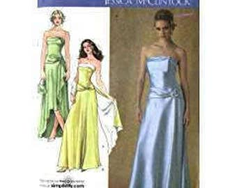 OOP Uncut Simplicity 4272 JESSICA MCCLINTOCK Prom Evening Dress Sizes 16-24