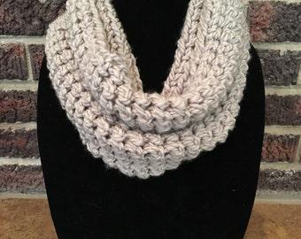 Beige inifinity scarf