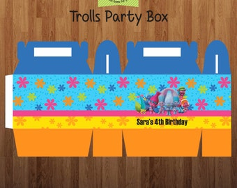 5 Trolls Printed Party Box