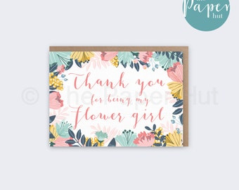 Flower Girl Card | Thank you for being my Flower Girl
