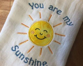 You are my Sunshine Burp Cloth