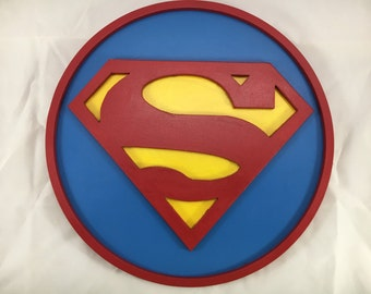 Superman Sign - 12inch round - 3D