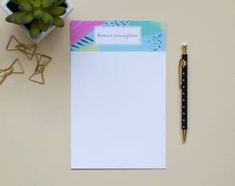 Personalized Notepad / Pattern Notepad / Custom Notepad / Name Notepad
