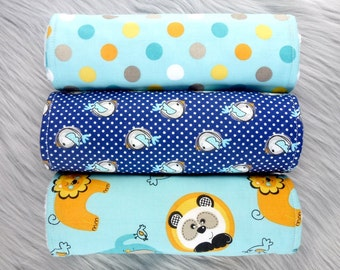 Baby Burp Cloths Set of 3, Baby Boy Gift, Baby Boy, Baby Shower Gift, New Mums