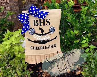 Brazoswood Cheerleader Garden Flag