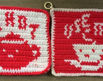 Crocheted Hot Pads With Messages