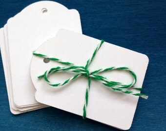 White Hang Tags, Price Tags, Favor Tags, Party Tags, Tags, Scrapbook Supplies, Labels and Tags, 200 pcs
