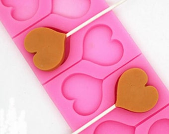 P170 Love Lollipop Silicone Mold Chocolate Mold Cake Decorative Mold, candy molds for baking tools crafts tools