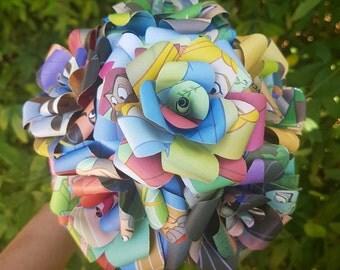 Sleeping Beauty  Book Bouquet-Decor-Wedding-Bridal Bouquets-Book lover gift-Disney- valentines