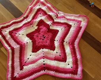 Pink Star Baby Blanket