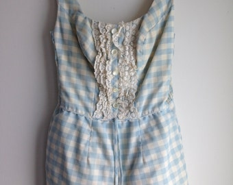 1950s Vintage Sears XS Women's Playsuit Jumpsuit Onesie