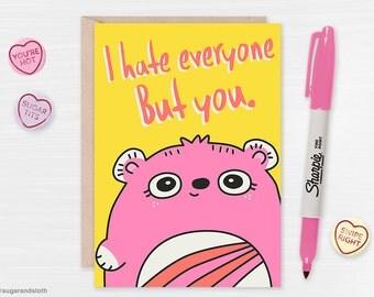 Funny Valentine Card, Cute Valentine Card, Valentines Day, Valentine Card Him, Valentine Card Her, Rude Valentines Card, Boyfriend