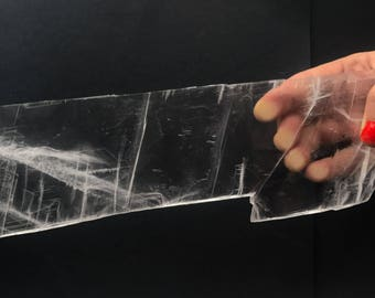 BIG Crystal Clear Selenite Charging Rectangle Plate