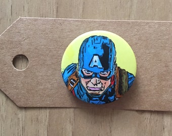 Captain America Pin Badge