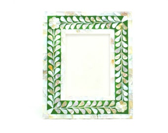 Mother of pearl Herritage V2M Green Picture Frame