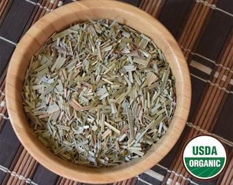 Organic Lemongrass (Cymbopogon citratus) 1 oz Cut & Sifted Herb