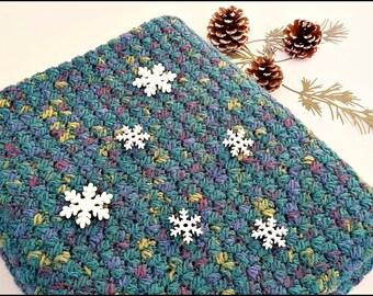 Baby blanket Multicolor blanket Green Stroller blanket Crochet blanket Soft baby blanket Handmade blanket Newborn blanket Car seat blanket