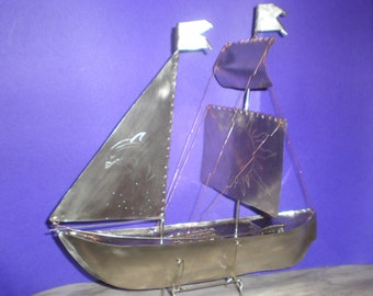 3D metal boats and ships