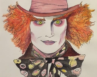 Mad Hatter watercolor