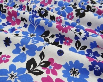 """Decorative Cotton Fabric For Sewing Designer White Cotton Floral Printed Fabric 44""""Wide Sewing Quilt Cushion Material By 1 Yard ZBC6341"""