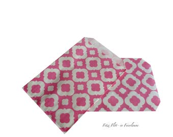 Gift Bags PATTERN pink white
