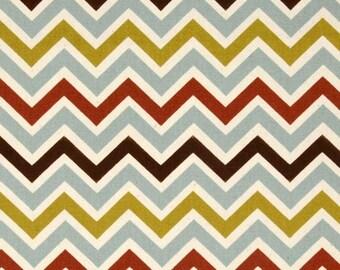 premier prints chevron zoom zoom village natural fabric