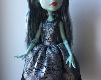 Silver Black Dress for Monster High Doll