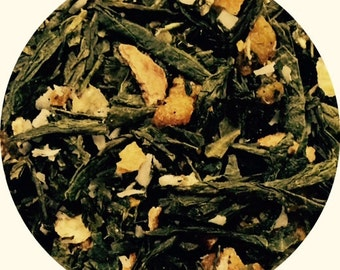 Sencha Green Tea + Tropical Fruit - Tea Cleanse | A taste of the Tropics | Loose leaf | Green tea is full of amazing health benefits