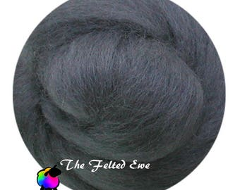 Needle Felting Wool Roving / DR59 Steel Grey Carded Wool Roving Sliver