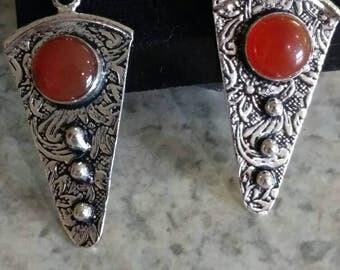 Carnelian Abstract Earrings