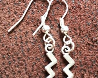 Tiny lightening earrings