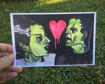 The Lovesick Frankensteins - Art Print