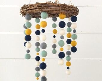 Crib Nursery Mobile - Northwest Navajo Willows Nest - Boho Nursery Decor, Navajo Aztec Nursery Decor, Baby Boy, Boy Nursery Decor