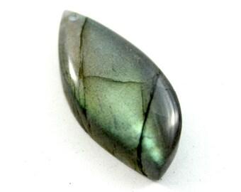 Green Labradorite Pendant. Freeform Labradorite. Freeform Pendant. Blue Stone Pendant. Green Stone for Jewelry. Blue Labradorite. Black Line