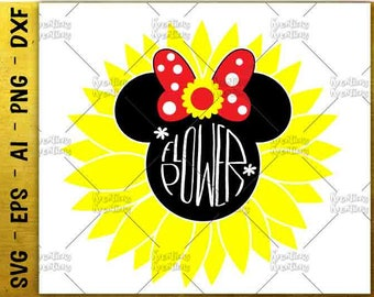 Flower power SVG Sunflower SVG ladybird svg bow svg cut cuttable cutting files Cricut Silhouette Instant Download vector SVG png eps dxf