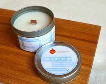 Scented candle vanilla - mint - lemon - wax natural of rapeseed - essential oils - scent of childhood - Cruelty Free
