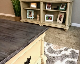 SOLD ** Custom Paint Request | Coffee Table | Media Stand