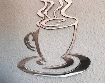 Coffee Cup Metal Art Decoration 11 Skilwerx Plasma Cut kitchen