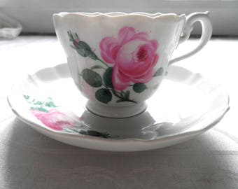 Beautiful Meissen Cup and Saucer  Hand Painted c.  1920s - 1930s