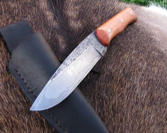Hand forged knife, Full tang knife , Hunting knife, Hand forged, Buschcraft knife, Wild life knife, Hand made,