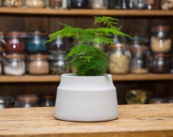 Large Matt Grey Ceramic Planter Plant Pot