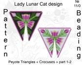Crocus patterns, Triangle Peyote pattern, Spring pattern, Flowers patterns, Peyote stitch, Beading patterns, Seed beads patterns