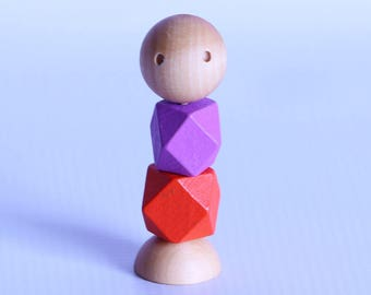 Little Wooden People – Fidget Toy – Sensory Toys – Eco Friendly Toy – Waldorf Inspired Toys – Restless Hand Toy – Autism