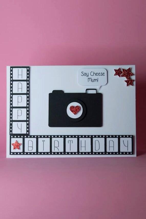 Camera Film Photography handmade birthday card photographer – Photographer Birthday Card