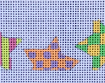 """Handpainted Needlepoint Meredtih Collection Belt  325 """"Stars - Multicolor"""""""