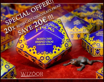 20 CHOCOLATE FROG (resin cast) bundle edition with wizarding figurines! Save 20 euros!