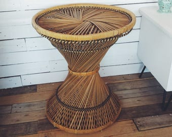 Tapered Boho Side Table
