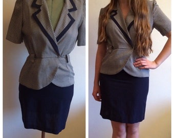 Amazing vintage 80s NAVY suit dress